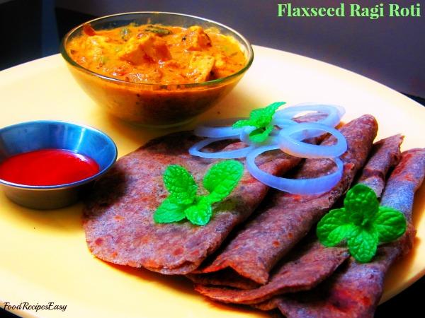 Flaxseed Ragi Roti Recipe