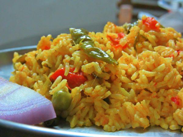 tomato peas pulao recipe aka tomato rice