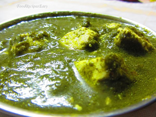 Palak Paneer recipe at home