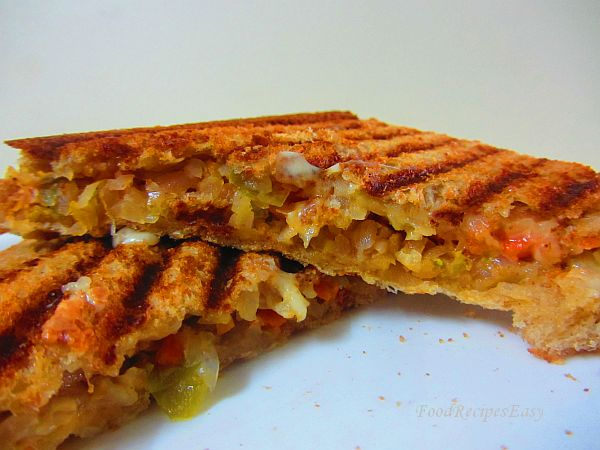 veg cheese grilled sandwich recipe