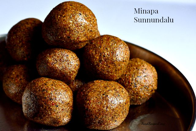 Andhra Minapa Sunnundalu recipe aka Urad Dal Ladoo