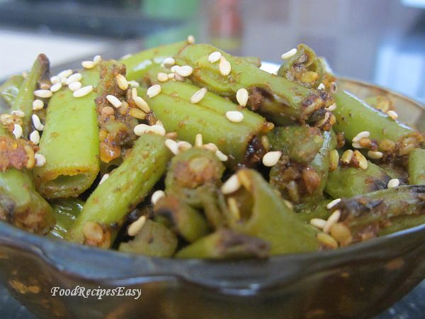 Stir Fried French Beans recipe With Toasted Sesame