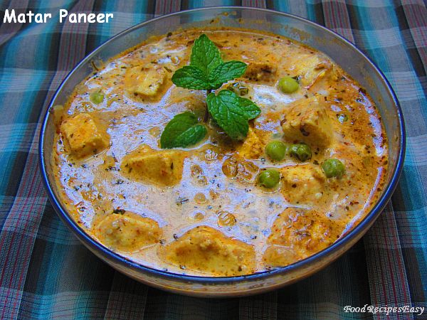 matar paneer recipe punjabi style