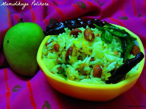 andhra mamidikaya pulihora recipe