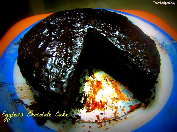 eggless chocolate cake recipe in microwave
