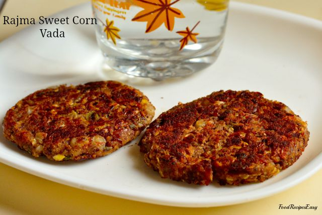 rajma sweet corn vada recipe