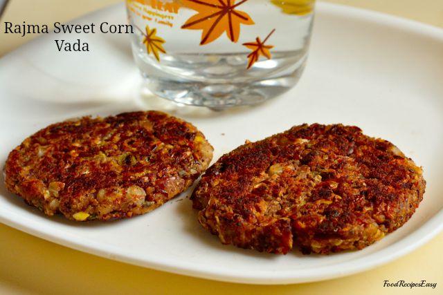 Rajma Sweet Corn Vada Recipe