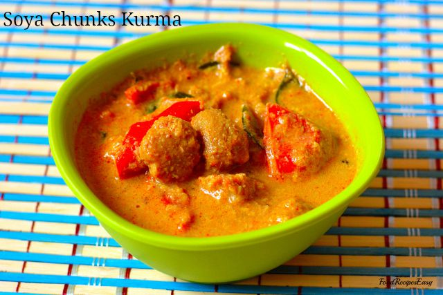 Soya chunks kurma recipe