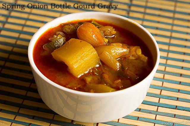 spring onion bottle gourd gravy recipe
