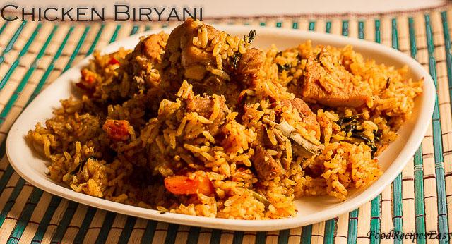 chicken biryani pressure cooker method