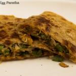 Capsicum Egg Paratha Recipe