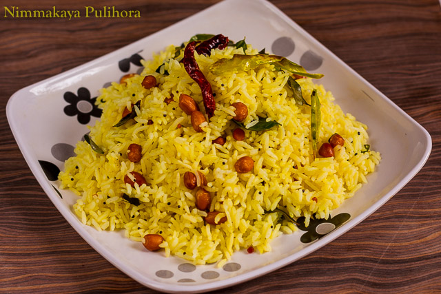 Nimmakaya Pulihora lemon rice