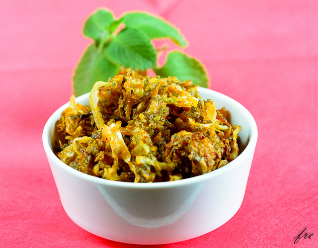 carom leaf cabbage fritters recipe
