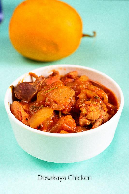 dosakaya chicken recipe Andhra style
