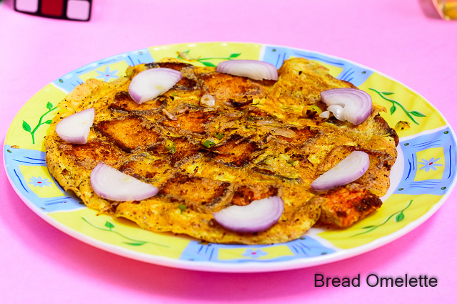 bread omelette recipe step by step